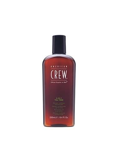 American Crew 3'Ü 1 Arada Çay Ağaci Özlü Saç Ve Vücüt Şampuani 250 Ml Renksiz